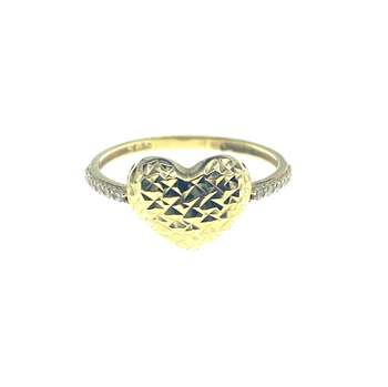 14ct Yellow Gold Heart Ring