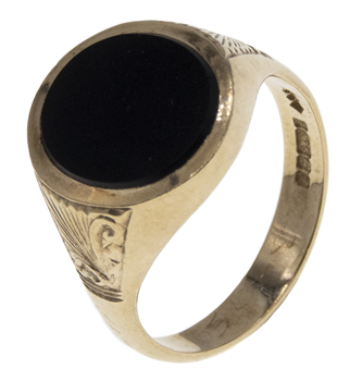 9ct Black Onyx Oval Ring