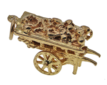 9ct Yellow Gold  Carriage Charm
