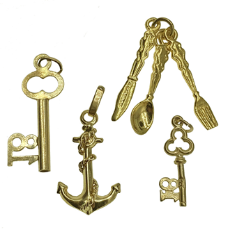 9ct Yellow Gold Assorted Charms