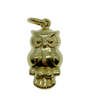 9ct Yellow Gold Owl Charm