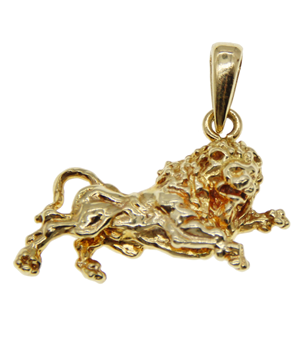 18ct Yellow Gold Lion Pendant