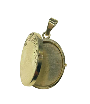 14ct Yellow Gold Oval Locket