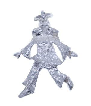 Sterling Silver 925 Clown Pendant