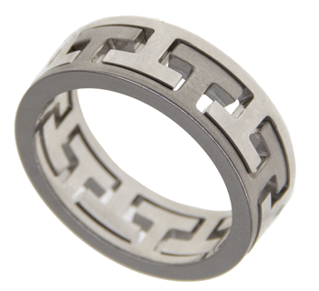 Greek Key Design Ring