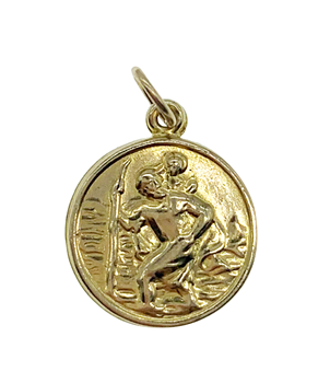 9ct Yellow Gold St. Christopher Charm