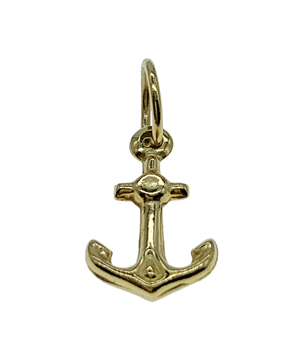 9ct Yellow Gold Anchor Charm
