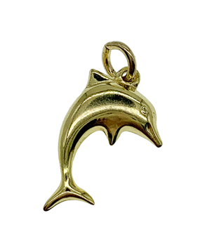 9ct Yellow Gold Dolphin Charm