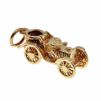 9ct Yellow Gold Car Charm