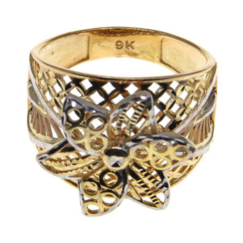 9ct Yellow Gold Filigree Design Ring