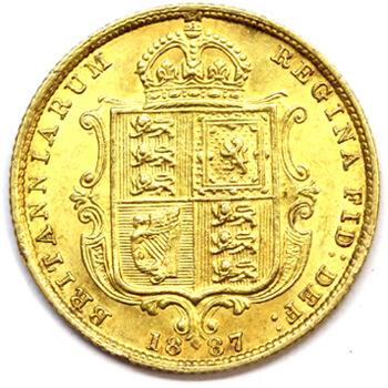 Gold Half Sovereign - Shieldback