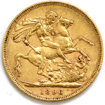 Gold Sovereign - Victoria Old Head - 1896