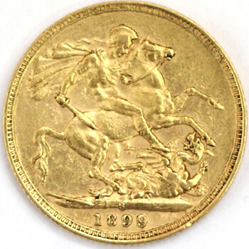 Gold Sovereign -  Veil Victoria - 1899