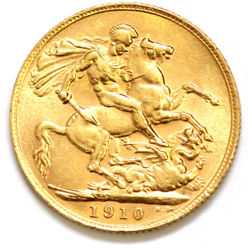 Gold Sovereign - Edward VII  - 1910