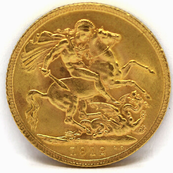 Gold Full Sovereign - King George - 1912