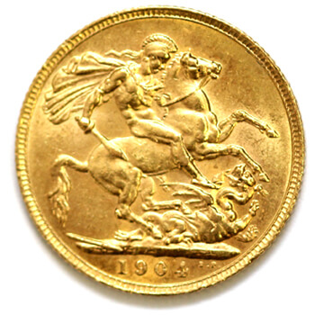 Gold Sovereign - King Edward - 1904