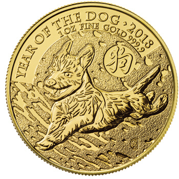 1oz Gold Lunar Dog
