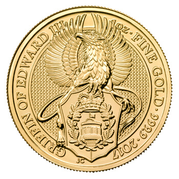1 oz Gold Queens Beasts Griffin