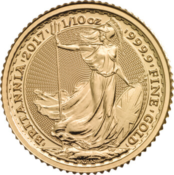 Tenth oz Gold Britannia