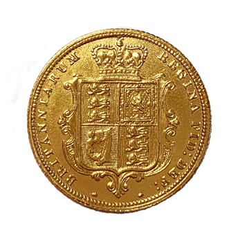 Gold Half Shieldback Sovereign