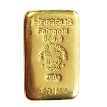 250g Gold Cast Bar