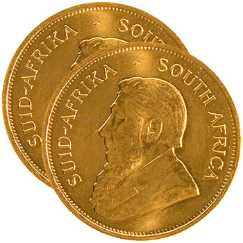 Gold Krugerrand x 2 - Best Value