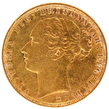 Gold Sovereign - Young Victoria - 1886