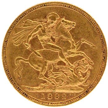 Gold Sovereign - Jubilee Victoria - 1892