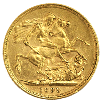 Gold Sovereign -  Victoria Old Head - 1899