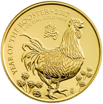 1oz Gold Lunar Rooster Coin