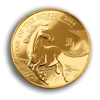 1oz Gold Lunar Horse