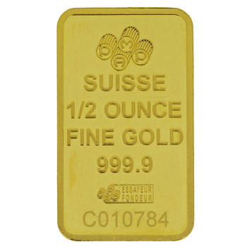 1/2 Ounce Gold Bar