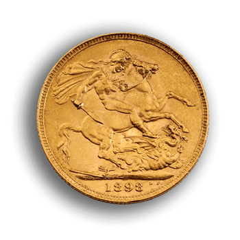 Gold Sovereign -  Victoria Old Head
