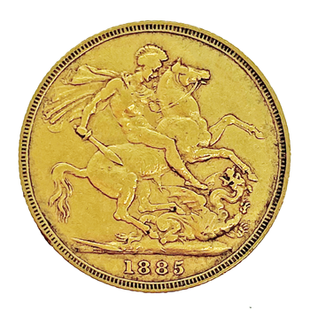 Gold Sovereign - Victoria Young Head 1885