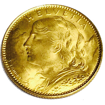 10 Swiss Franc Gold Coin
