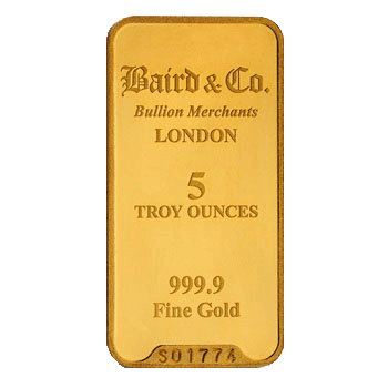 5 Ounce Gold Bar